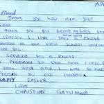 List od Christine przed Świetami Wielkanocnymi